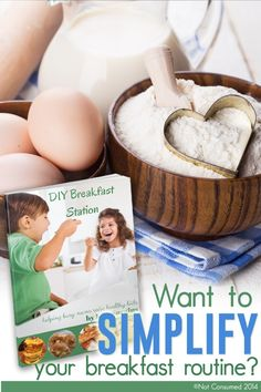 This one idea will change your busy mom life. You get 200+ DIY breakfasts and one happy family! Hello breakfast station. Good bye hectic mornings! Trust me, you're gonna love it!