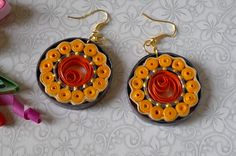 Beautiful Quilling paper earrings making   Learn how to make paper Earrings