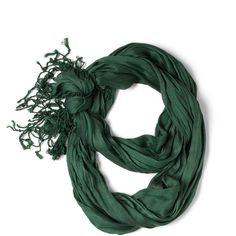 Crinkle in Time Scarf in Evergreen ($16) found on Polyvore