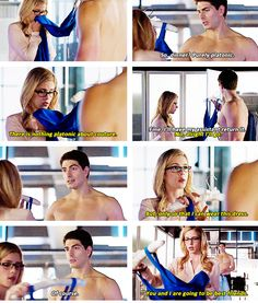 """#Arrow 3x07 """"Draw Back Your Bow"""" - """"purely platonic"""" says the shirtless man. Good lord!"""