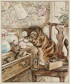 Simpkin the cat from the Tailor from Gloucester.