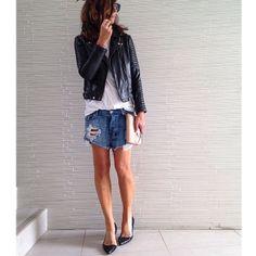 Comfy clothes #denim #leather #ballets #basics by tashsefton