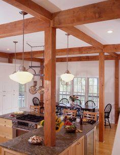 Beach House Post & Beam Kitchen by Yankee Barn Homes