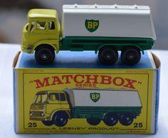 1960's Lesney Matchbox No 25 BP Tanker Truck with Original Box  https://www.etsy.com/shop/WillsAttic