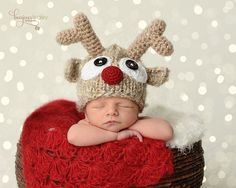 Newborn Photo Prop,Reindeer Hat,Baby Boy Hat,Baby Girl Hat,Baby Reindeer Hat,Christmas,Newborn Girl Hat,Newborn Boy Hat,Size Newborn-Toddler on Etsy, $37.00