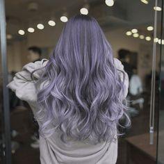 Ash Purple Hair, Silvery Purple Hair, Silver Lavender Hair, Lilac Hair, Hair Color Gray Silver, Blue Grey Hair, Purple Hair Highlights, Silver Hair, Hair Dye Colors