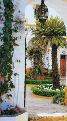 Patio en el Palacio de las Dueñas,Sevilla Spain