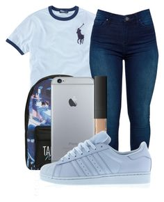 """""""Untitled #363"""" by kenziesg ❤ liked on Polyvore featuring Ralph Lauren, BLANKNYC, Disney, NARS Cosmetics and adidas"""