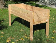 Raised planter box good for herbs and lettuces non deep rooting plants. right by the ktichen