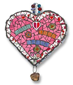 'Live Love Laugh' Artist: Katy Galbraith - 2014 International Mosaic Auction benefit for Doctors Without Borders / Médecins Sans Frontières (MSF) will be held online at BiddingForGood.com/DWB-MSF/2014MosaicAuction - Auction opens November 22 – Auction closes December 6