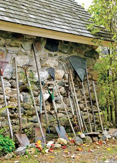 """Step into My Garden TOOLS AT HAND:   """"I never put away my tools,"""" Katherine says. """"I leave them outdoors underneath the eaves on the garage. Sure, they rust. But you know what? They still work."""""""