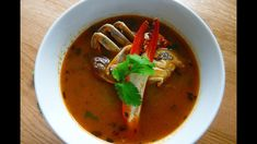 Bouillon crab /Crab soup is delicious and soul-satisfying. And very popular with Mauritius . Mauritian Food, Crab Soup, Mauritius, Dumplings, Starters, Thai Red Curry, Easy Meals, Ethnic Recipes, Shrimp