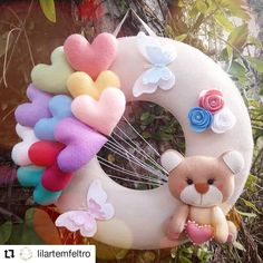 Felt Crafts Patterns, Felt Crafts Diy, Felt Diy, Baby Crafts, Handmade Crafts, Baby Girl Nursery Decor, Baby Room Decor, Felt Fabric, Fabric Dolls