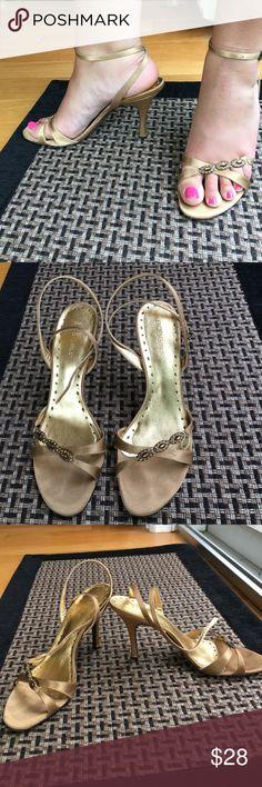 Spotted while shopping on Poshmark: BCBG Girls bronze heels! #poshmark #fashion #shopping #style #BCBGirls #Shoes