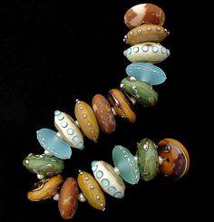 DSG Beads Handmade Organic Lampwork Glass - Made To Order (River Rocks)