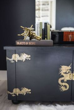 Dragon details // Zen House: An Interior Designer's Own Home Shows Luxury Needn't be Over the Top