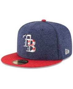 New Era Tampa Bay Rays Authentic Collection Stars & Stripes 59FIFTY Cap - Blue 7 1/8