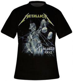 T-Shirt Mec METALLICA - And Justice For All - T-Shirts - www.rockagogo.com