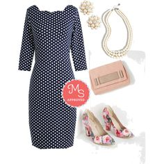 In this outfit: Fashion Panelist Dress, Bouquet of Beauty Dress, And Gem What? Necklace, Stylista Sighting Bag, Abundant Poise Heel #polkadots #retro #vintage #workwear #floral #dresses #pearls #classic #ModCloth #ModStylist #fashion