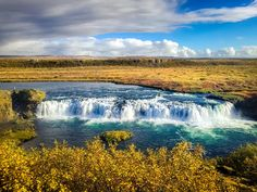 Faxi Waterfall Biskupstungnabraut Iceland [OC] [3264  2448]