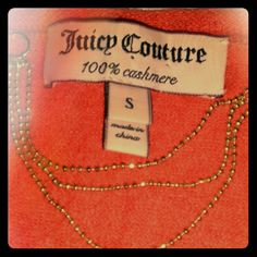 Juicy Couture cashmere..final price 100% cashmere cardigan..cropped length..photo 2 and 3 best of color..last photo shows tuck details in the back..hangs loose in front..incredibly soft Juicy Couture Sweaters Cardigans