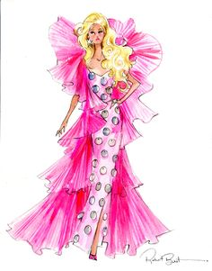 Moschino Barbie illustration by Robert Best