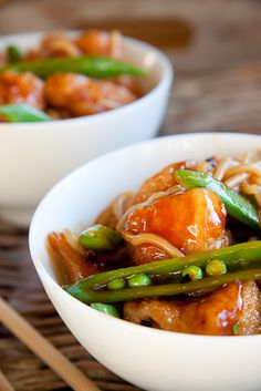 I browse food photography sites every day and the one recipe that I see most often (other than delicious baked goods) is General Tso's Chicken. Not knowing what on earth this was, I started investigating and came to understand this as a dish with American-Chinese roots. No one is completely sure where it's originally from …