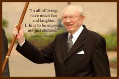 Explore the best Gordon B. Hinckley quotes here at OpenQuotes. Quotations, aphorisms and citations by Gordon B. Lds Memes, Lds Quotes, Quotable Quotes, Great Quotes, Prophet Quotes, Mormon Quotes, Awesome Quotes, Thin Hair Cuts, Impatience