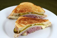 Cuban Grilled Cheese, with ham and turkey, cheese and pickles