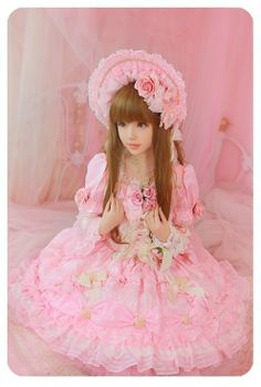 Sweet lolita in a Baby the Stars Shine Bright OP Harajuku Fashion, Japan Fashion, Kawaii Fashion, Lolita Fashion, Girl Fashion, Estilo Lolita, Gyaru, Visual Kei, Mode Lolita