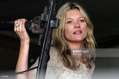 Kate Moss watches her boyfriend Pete Doherty perform on The Park Stage at Worthy Farm, Pilton near Glastonbury, on June 24 2007 in Somerset, England. The festival, that was started by dairy farmer Michael Eavis in 1970, has grown into the largest music festival in Europe. This year's festival is the biggest yet and will have headline acts including The Who, The Arctic Monkeys and The Killers.