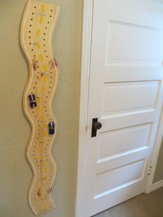 Twin/Sibling Race Car Wooden Growth Chart. $54.95, via Etsy.