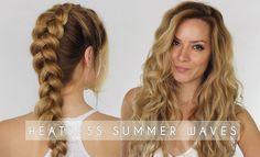 Heatless Summer Waves Hair Tutorial | Dutch Braid Hair Tutorial | Shonag...