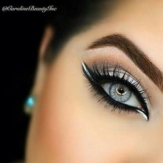 How to make your eyeliner stay on all day? Eyeliner is one of the essential items that should be in your makeup bag as it works in conjunction with your mascara to create large, beautiful eyes that st. Pretty Makeup, Love Makeup, Makeup Inspo, Makeup Inspiration, Makeup Tips, Beauty Makeup, Makeup Looks, Makeup Ideas, Makeup Tutorials