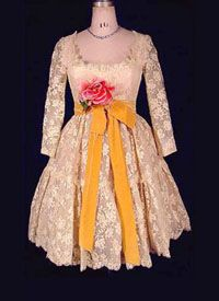 1964-65 George Halley Lace Baby Doll Dress - courtesy Deborah Burke, antiquedress.com