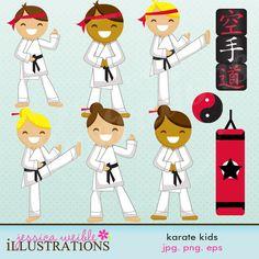 Karate Kids by JW Illustrations 3.00