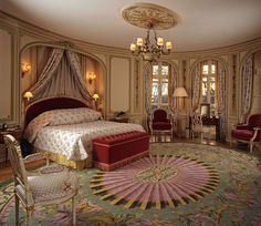 The draping of the curtains and the carpet beautifully stands out. This room has a subtly that's inexplicable.