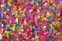 Rough-cut recycled confetti Rainbow Quilt, Rainbow Art, Confetti Bars, Wedding Send Off, Rainbow Decorations, Rainbow Crafts, Color Studies, Rough Cut, Textures Patterns