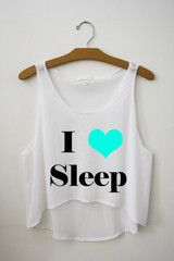 I Love Sleep Crop Top