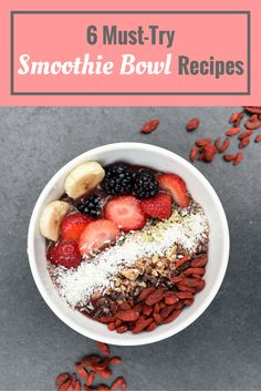 Totally need to try these awesome smoothie bowls! #smoothiebowl #food #breakfast