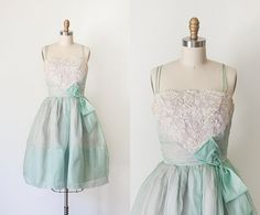 1950s Party Dress // SM by strawberrykoi on Etsy, $130.00