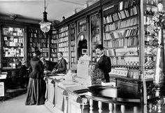 Little Bookworm — bookporn:   Bookstore in Naestved, Denmark ,1899.