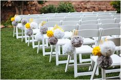 Yellow and gray wedding: