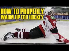 How To Properly Warm Up & Stretch For Hockey Players Pre-game – Hockey Tutorial Hockey Workouts, Hockey Drills, Hockey Games, Hockey Training, Sports Training, Hockey Shot, Warm Up Stretches, Youth Hockey, Skater Boys