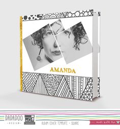 • Square album cover design: 8x8 in adaptable to any square size  • Compatible with Photoshop CS, CC • Fully customizable, layered