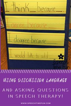 Using Discussion Language: Asking Questions - Speech Time Fun