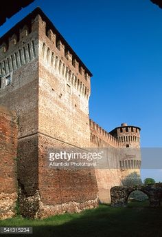 View of tower and moat at castle (known as the Rocca) in... #soncino: View of tower and moat at castle (known as the Rocca) in… #soncino