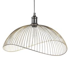 PHAONA black metal wire pendant D 48 cm - Phaona Home Scents, Industrial Pendant Lights, Ceiling Lights, Light Fixtures, Trendy Living Rooms, Lights, Light Fittings, Light Accessories, Stylish Lights