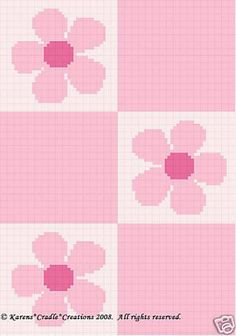 That I created. This graph pattern will make a beautiful heirloom afghan done in single crochet, the afghan or Tunisian crochet stitch, knit, or counted cross stitch onto the background. Crochet C2c, Graph Crochet, Tunisian Crochet Stitches, Pixel Crochet, Crochet Blocks, Baby Blanket Crochet, Tapestry Crochet Patterns, Crochet Flower Patterns, Beading Patterns