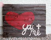 You and Me Block Wood Pallet Art. $89.00, via Etsy.